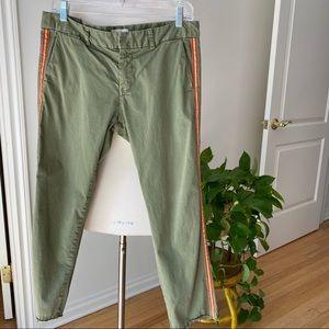 Nili Lotan Green East Hampton Pants with Tape